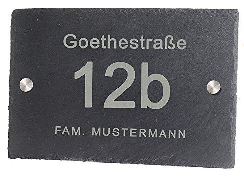 Feiner-Tropfen -   Hausnummer Schiefer