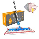 Product Image of the HAPINNEX Hardwood Dust Microfiber Floor Mop - 4 Washable & Reusable Microfiber Flat Mop Cloths/Pads - For Home Kitchen Bathroom Cleaning - Wet or Dry Usage on Hardwood, Laminate & Tile