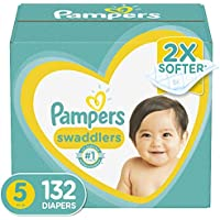132-Count Pampers Swaddlers Disposable Baby Diapers, Size 5
