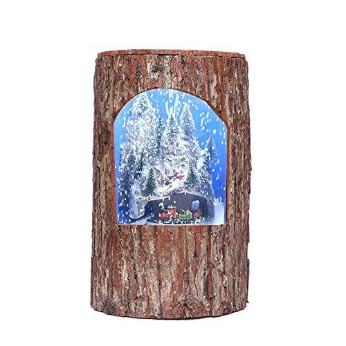 JUNJP Stumpf Schneemusik Pendelleuchte, Weihnachten Musical Glitter Laterne dekorativ, für Kinder Geschenk Sammlerstücke, für Festival Mall Supermarkt Bar