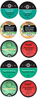 10 Cup PEPPERMINT TEA 2.0 Single Serve Sampler! Peppermint & Mint TEA Varieties!
