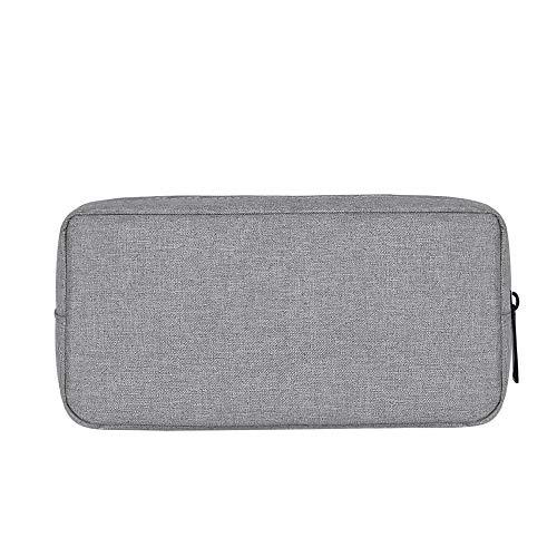 Baomasir Elektronische Zubehör-Tasche, Digital-Gadget-Organizer, Aufbewahrungstasche für Laptop-Ladegeräte, Geeignet für Reise, Geschäfts-und Kosmetiklager, Grau