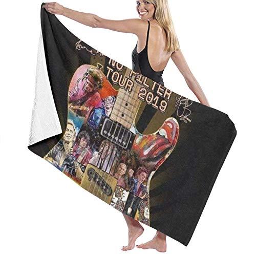 Custom made Rolling Stones - Toallas de baño unisex de lujo, toallas de playa suaves para piscina/natación, toalla de microfibra absorbente y ligera