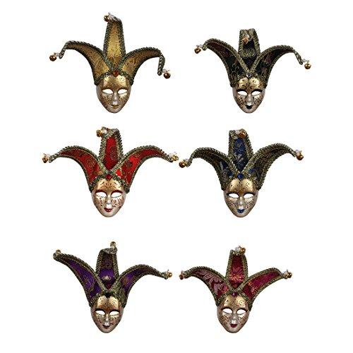 YUFENG Juego de 6 unidades de máscaras venecianas para fiestas, decoración de fiestas, multicolor