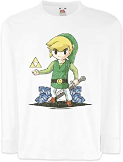 Urban Backwoods Link Diamonds Camisetas de Manga Larga T-Shirt para Niños Niñas