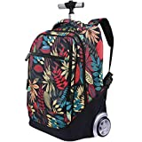 Rolling Backpack for Kids Adults,19 Inch Trolley Backpack with Wheels Wheeled School Bag