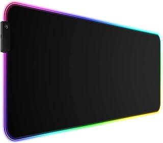 TEKXDD RGB Mouse Pad Gamer LED Alfombrilla para Mouse XXL 800x300mm,14 Modos Efectos de Luces Alfombrilla Ratón Base Antid...