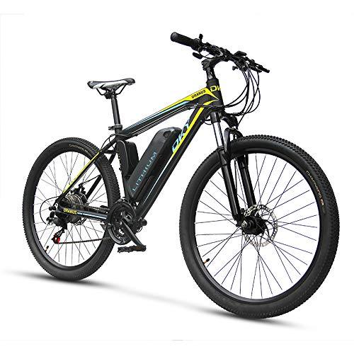 LIANG Electric Bike 26 Inch Mountain Ebike Lithium Battery Long Range Ebike,Black- Dual Battery