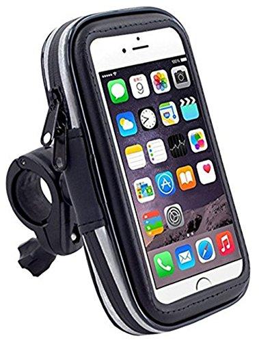 DaoRier wasserdichte Fahrrad Motorrad Bike Hülle Schutzhülle Universal Handyhalterung Fahrradhalterung Lenkstange Handy Halter Wasserabweisend für iPhone 5 5s 6 6S Samsung Galaxy S4 S5 (4,7 Zoll)