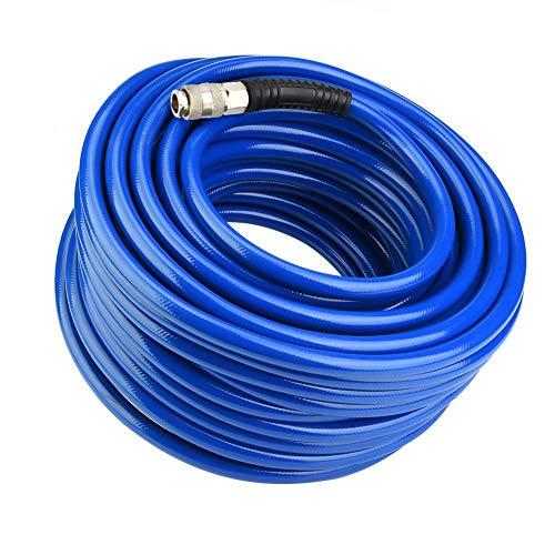 Manguera neumática de PVC -30M Manguera neumática de PVC Flexible Azul con Conector rápido para compresor de Aire