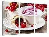 Poster Fotográfico Pasteleria, Heladeria, Helado fresa con Fruta y cucurucho Tamaño total: 97 x 62 cm XXL