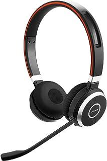 Jabra Evolve 65 UC Stereo Wireless Bluetooth Headset / Music Headphones Includes Link 360 (U.S. Retail Packaging)