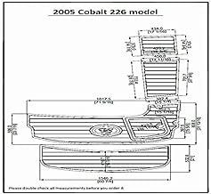 JZ 2005 Cobalt 226 Model Swim Platform Pad Boat EVA Teak Decking 1/4