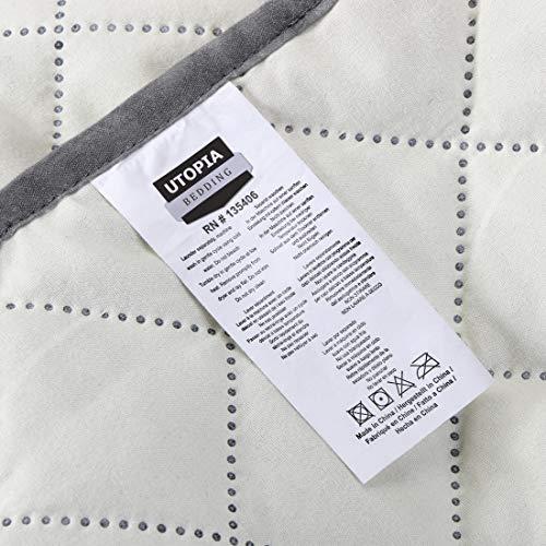 Utopia Bedding Copridivano Reversibile - Resistente allo Sporco - Protezione per mobili per Animali Domestici e Bambini [Adatto a divani in Pelle - No] (3 posti, Grigio/Beige)