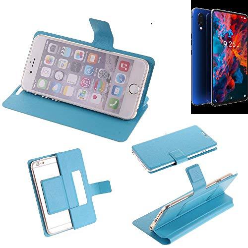 K-S-Trade Flipcover Für Archos Diamond 2019 Schutz Hülle Schutzhülle Flip Cover Handy Hülle Smartphone Handyhülle Blau