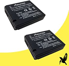 Two Halcyon 1800 mAH Lithium Ion Replacement Battery for Leica D-LUX 5, D-LUX 6 Digital Cameras