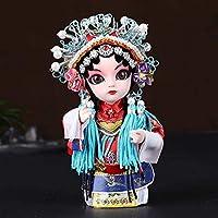 彫刻の装飾中国風の京劇のキャラクターFacebookのお土産人形の装飾品手描きの像ヤンYuhuan人形6インチ棚Dé cor