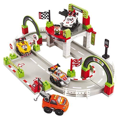 Ecoiffier - Abrick Circuit Grand Prix avec 1 Figurine et 4 véhicules Playset, 7600003006