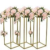 Soporte para flores de boda de metal, 10 unidades, soporte para flores, jarrones, velas para fiestas, festivales, decoración (80 cm)