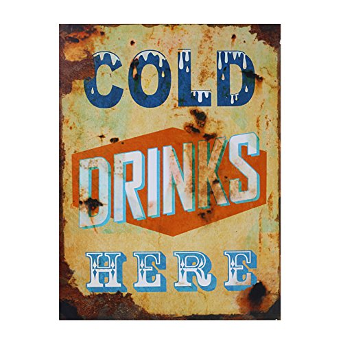 Preis am Stiel Blechschild Foodstuff Cold Drinks | Coffee | Water | Beer