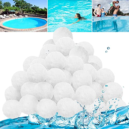 MOLVCE Bolas de filtro para bomba de piscina, 700 g, sustituyen a 25 kg de arena de filtro, bolas de filtro para accesorios de filtro de arena