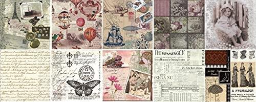 Zita`s Creative Servietten Set mit Decoupage-Kleber - Vintage time. Decoupage, Serviettentechnik