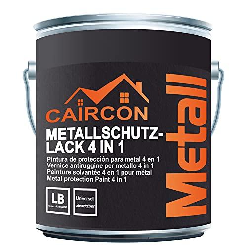 Finitura antiruggine per Ferro Acciaio Alluminio - Vernice protettiva a solvente 4in1 - Smalto esterno metallo - Bianco segnale 2,5L