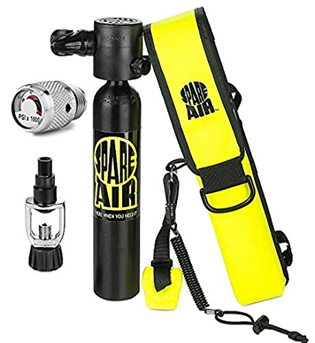 Spare Air 3.0CF Package Scuba Divers Dial Gauge Upgrade, Fill Adapter, Holster, Leash