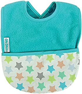Silly Billyz Toweling Pocket Bib, Aqua