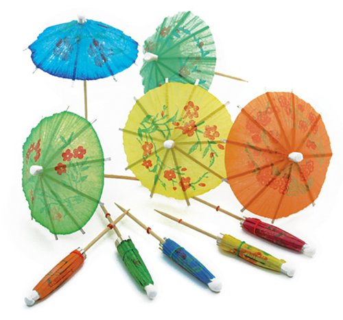 Norpro, Multicolored 24-Pack Decorative Cocktail Umbrella Picks