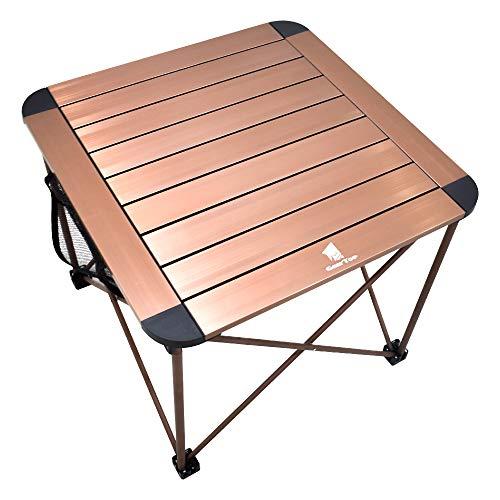 GEERTOP klapptisch Campingtisch 53x53 cm Aluminiumtisch Ultraleichter Tragbarer Stabiler Aufrolltisch mit Tragetasche für Picknick, Wandern, Camping, Angeln, Reisen,Grillen