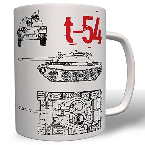 T54 Panzer Russland NVA DDR mittlerer Kampfpanzer Sowjetunion - Tasse Becher Kaffee #7481