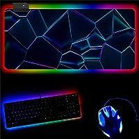 RGBゲーミングマウスパッドアニメ14ライトモードコンピューターマット、アニメLEDラージ、ゲーマーC1000x500mm用に最適化された高性能マウスパッド