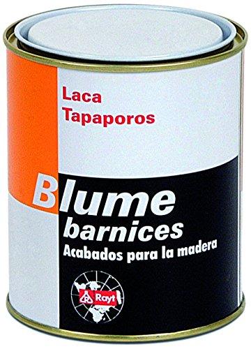 Rayt 560-81 Blume Laca tapaporos: sellador para madera de uso exclusivamente INDUSTRIAL. Alto poder de relleno, secádo rápido, fácil lijado. Transparente. 750 ml