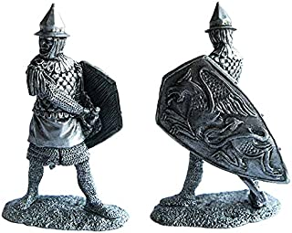 Military-historical miniatures Byzantine Infantryman 13 Century Tin Metal 54mm Action Figures Toy Soldiers Size 1/32 Scale for Home Décor Accents Collectible Figurines Item #P12