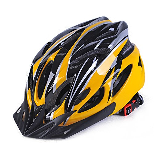GCDN Fahrradhelm mit Visier, Mountainbike-Helm, Rennradhelm, verstellbar, leicht, für Erwachsene, Jugendliche und Kinder, nicht null, Gelb/Schwarz, Free Size
