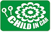 imoninn CHILD in car ステッカー 【マグネットタイプ】 No.27 デンデンムシさん (緑色)