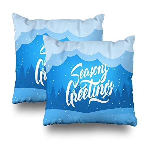 GFGKKGJFD Juego de 2 fundas de cojín para sofá, diseño moderno y elegante, color azul, 18 x 18 cm, para regalos de sofá, adolescente y niña