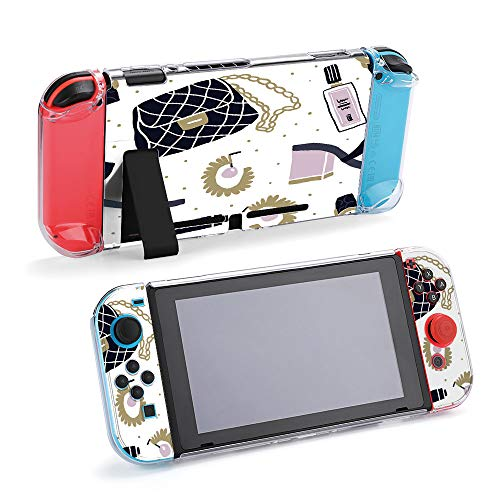 SUPNON Set of Fashion Accessories Flatlay Seamless Compatible with Nintendo Switch Console & Joy-Con Protective Case, Durable Flexible Shock-Absorption Anti-Scratch Drop Design30259
