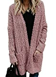 Sidefeel Women Long Sleeve Open Front Soft Outwear Cardigan X-Large Pink