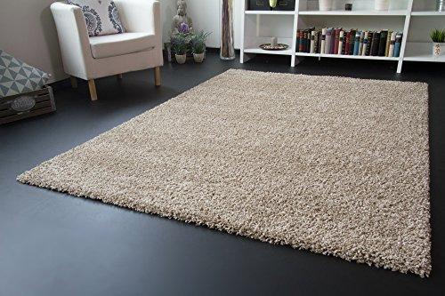 Shaggy Hochflor Teppich Funny Soft Touch Langflor in der Farbe beige GUT Siegel, Größe: 140x200 cm