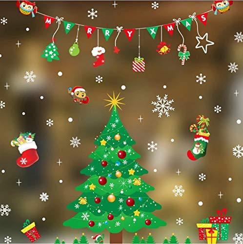 Cczxfcc 50 X 70 Cm Hoge Kwaliteit 2019 Kerstmis Verwijderbare Muursticker Adornment Wandglas raamdecoratie Decoratie voor Thuis