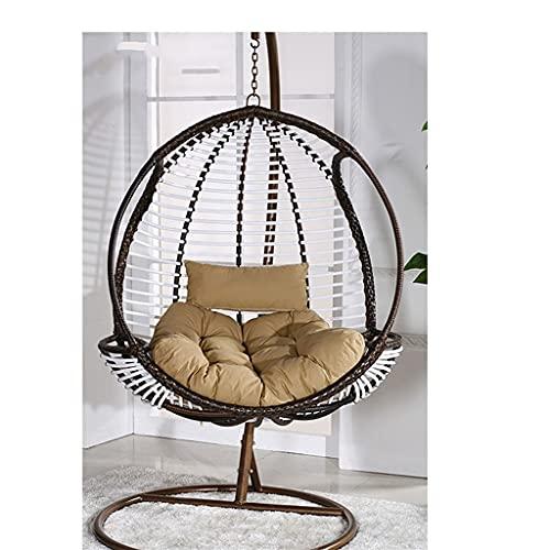 Chaise suspendue de style de loisirs chaise d oeuf unique chaise en rotin pour meubles d extérieur, chaise suspendue swing rotin en rattance chaise en osier intérieur et extérieur chaise bébé Balcon c