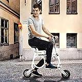 XTD E3 Bicicleta Eléctrica, Plegable del Viajero Urbano E-Bici Velocidad Máxima 20 Kmh 8 Pulgadas De Neumáticos Súper Ligero Vespa Bicicleta Eléctrica Que Puede Caber En Una Mochila A