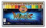 Koh-I-Noor Magic Jumbo Buntstifte, dreieckig, mehrfarbig, 24 Stück