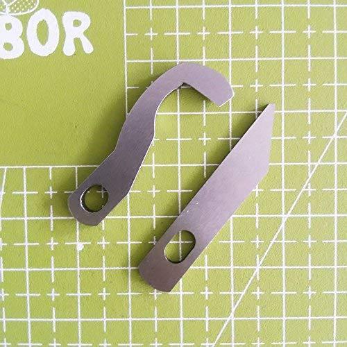 YICBOR Overlock Obermesser XB0563001 Untermesser X77683001 für Brother 929D 1034D 1134D (XB0563001+X77683001)