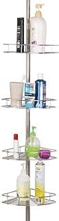 Dripex Etagère d'angle de Douche télescopique en Acier Inoxydable sans Perçage Hauteur Réglable avec 4 Panier pour Salle d...