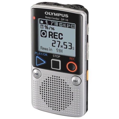OM Digital Solutions DP-10 Digital Voice Recorder 142640 (Silver)