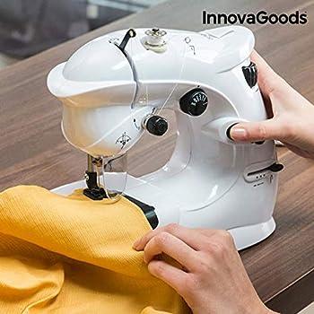InnovaGoods Máquina de Coser Compacta 6 V 1000 mA, Vinilo y ABS ...
