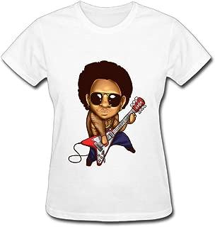 Duanfu Lenny Kravitz Women's Cotton Short Sleeve T-Shirt